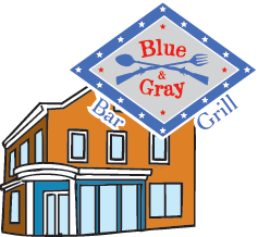 Blue and Grey Bar and Grill